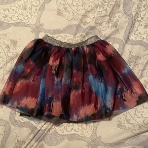 Fluffy colorful skirt